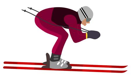 skier aerodynamic position Vector