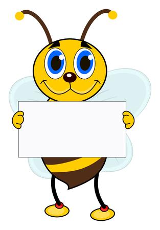 een bee Stock Illustratie