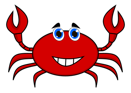 loveable: a happy crab
