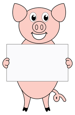 advertiser: a pig with a placard