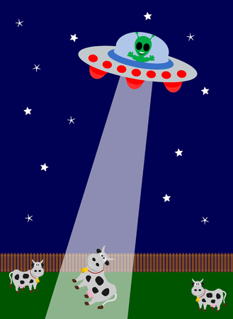 kidnapping: UFO kidnapping  cow