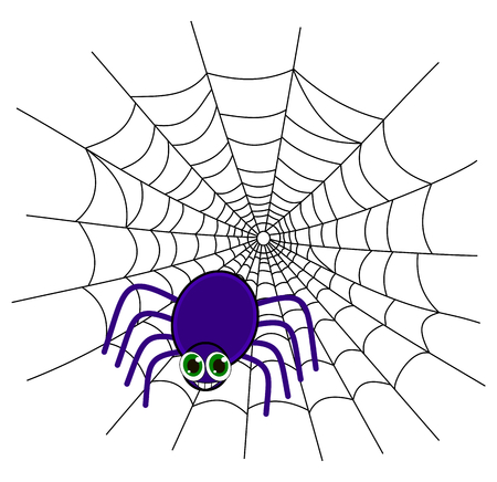 loveable: a spider on a web