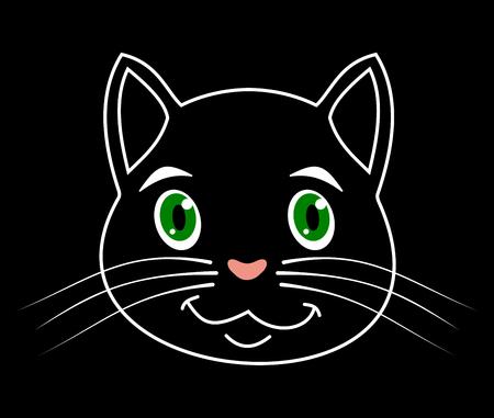 loveable: a portrait of cat Illustration