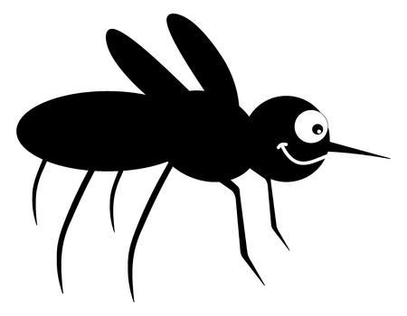 a mosquito shadow Ilustracja