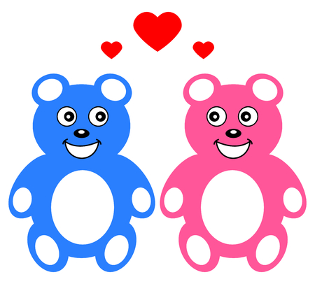 loveable: two teddy who loves