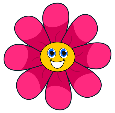 pink flower: a smiling pink flower