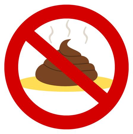 piss: una merda e pip� in un segno di divieto Vettoriali
