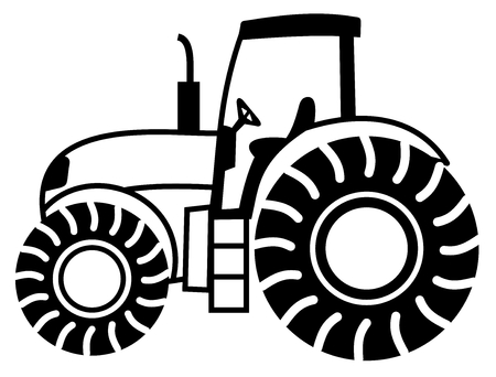 a tractor shadow Vector