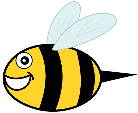 goad: smiling bee and profile