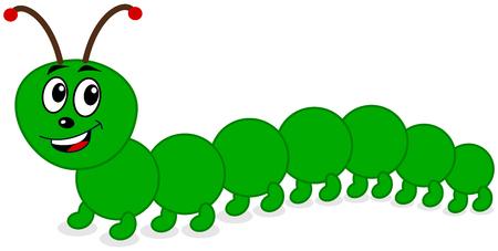 a smiling centipede Illustration