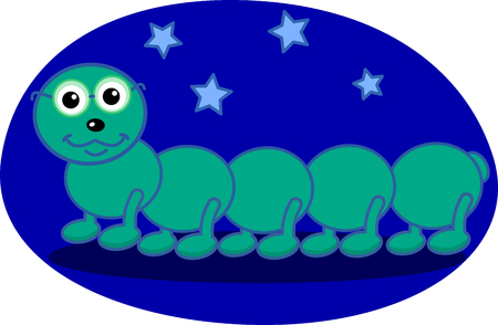 centipede the night Vector