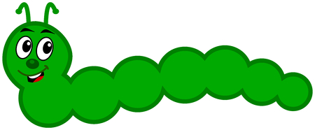 a green caterpillar Vector