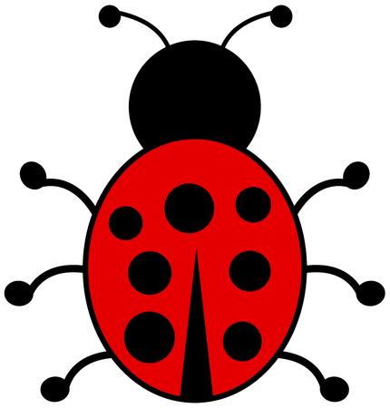 smirch: a ladybug back view