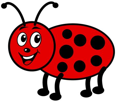 smirch: smiling ladybug