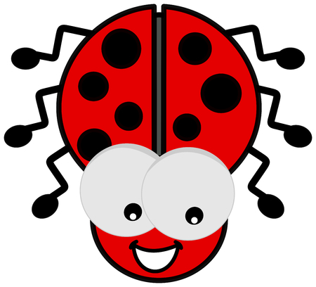 smirch: ladybird with big eyes Illustration