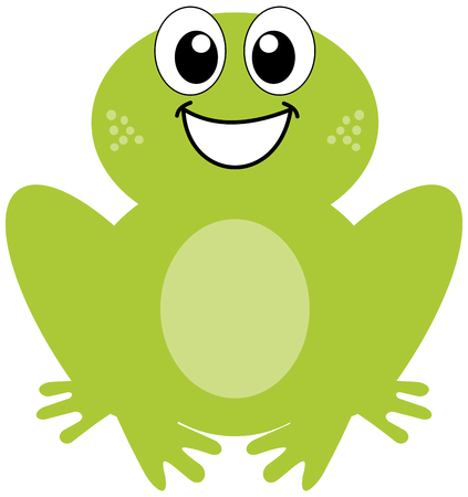 smirch: a smiling green frog