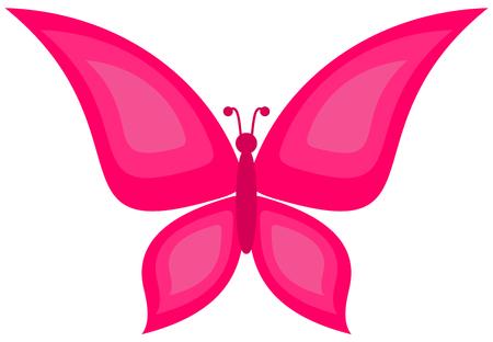 papillon rose: un papillon rose Illustration