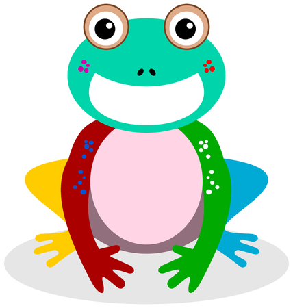 marsh: a smiling frog multicolor