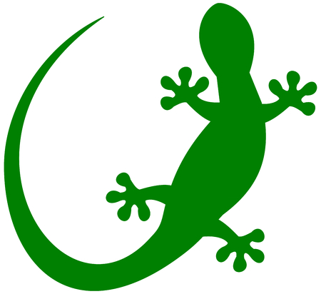 wriggle: a lizard in green shadow