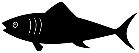 a black shadow fish Vector