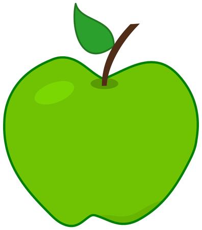 een groene appel