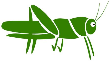 a grasshopper pictogram Vector