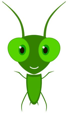 a happy little grasshopper Vector