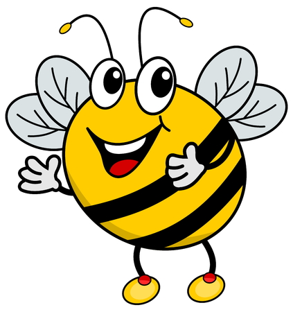 loveable: a happy bee Illustration