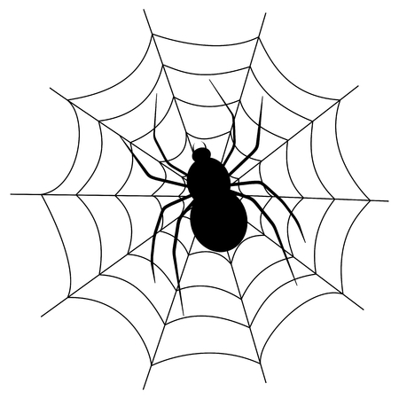spidery: a spider on a web