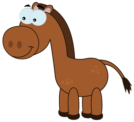brown horse: a brown horse smiling