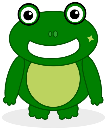 a green frog face