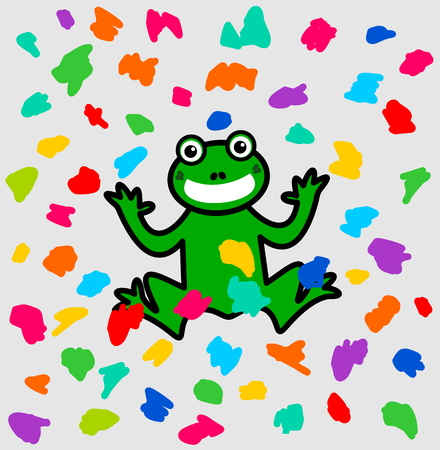 smirch: a frog festival under a shower of color