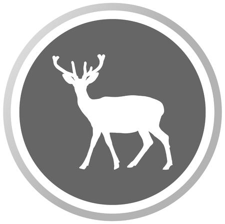 cervidae: a deer in a grey Panel