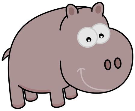 a cartoon hippo