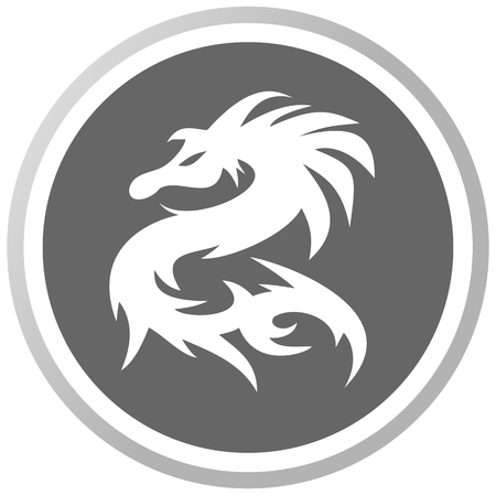 a dragon in a grey Panel