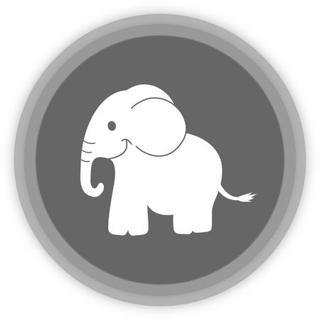 an elephant in a grey Panel Vector