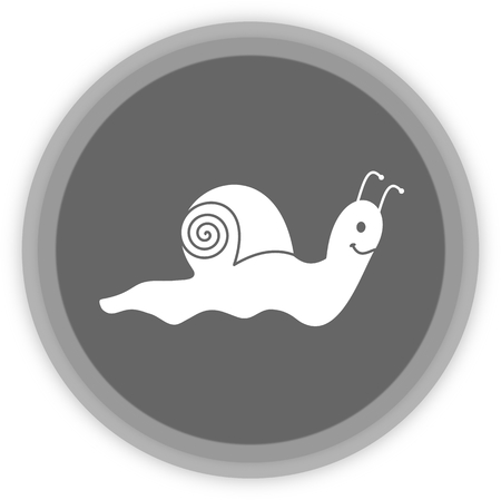 loveable: a snail in a grey Panel