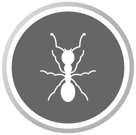 anthill: an ant in a grey Panel Illustration