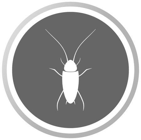 een kakkerlak in een grijs Panel Stock Illustratie