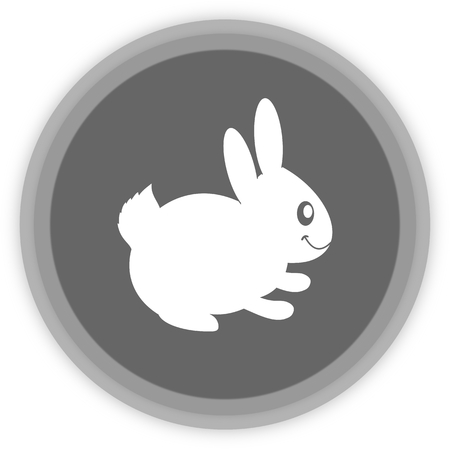 loveable: a rabbit in a grey Panel