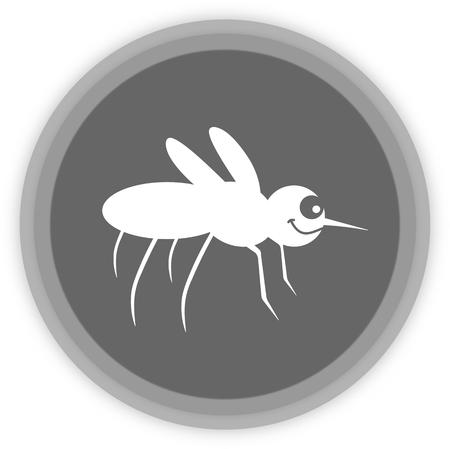 a mosquito in a grey Panel Illusztráció