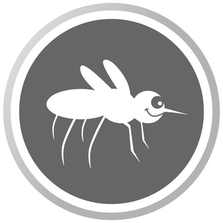 housefly: a mosquito in a grey Panel Illustration