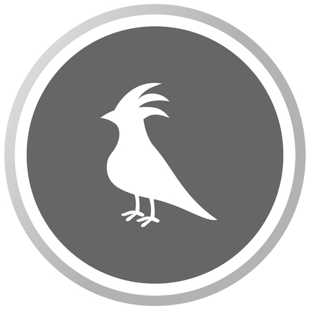 fledgeling: a bird in a grey Panel Illustration
