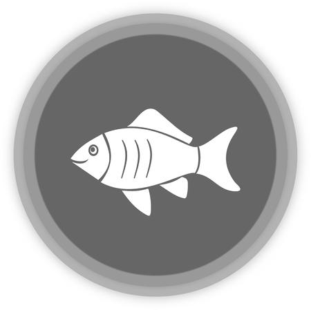carpus: a fish in a grey Panel Illustration