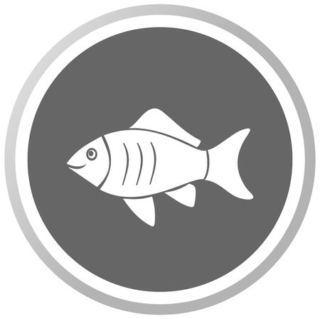 a fish in a grey Panel Illustration