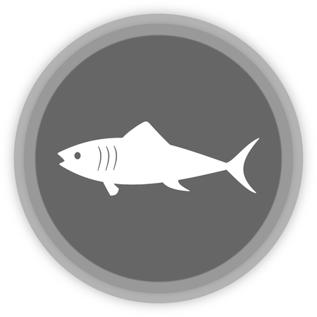 pilchard: a fish in a grey Panel Illustration