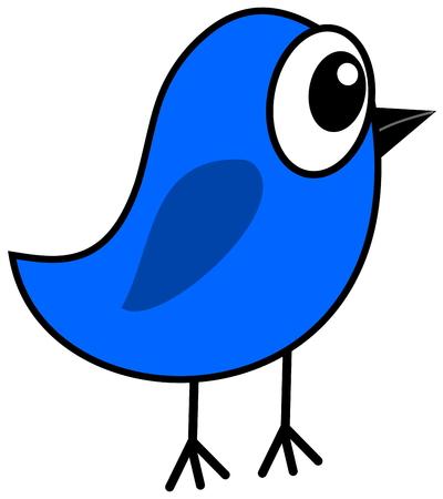 fledgeling: a little blue bird