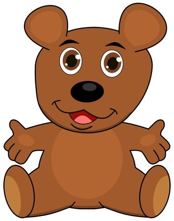 loveable: a teddy bear, open arms