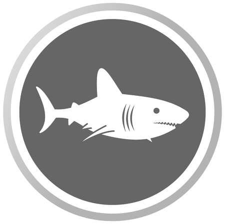 a shark in a grey panel Vector
