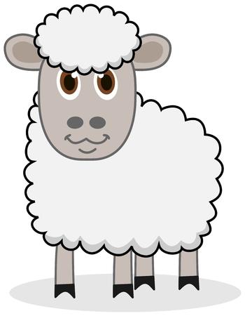 beaux yeux: un mouton blanc avec de beaux yeux
